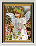 Набор для вишивки бісером Дівчинка-ангелочок. Арт. СД-225ч, фото 2