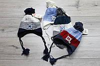 Акриловая шапка ( на флисе) для мальчиков. 1- 4 лет.