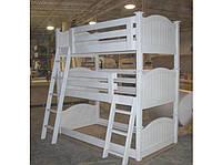 """Трехъярусная кровать """"Трино"""" из массива дерева"""