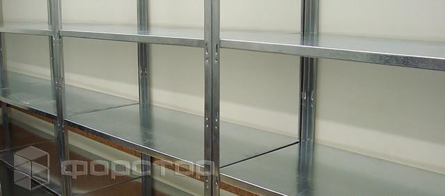 Металлические стеллажи для хранения папок