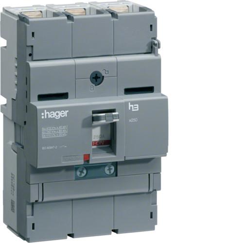 Вимикач автоматичний 3p, 200А, 40kA (HNB200H) Hager