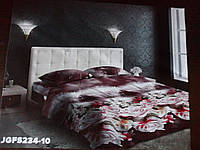 Евро комплект постельного белья с 3D эффектом