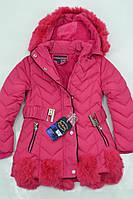 Зимняя куртка-пальто для девочек на меху. Размеры по росту 116 до 146см. (4-12лет) Фирма-Xu Kids Польша.