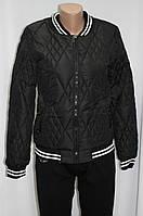 Куртка осенняя женская, на синтепоне, черная, фото 1