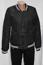 Куртка осенняя женская, на синтепоне, черная