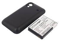Аккумуляторная батарея CameronSino для смартфона Samsung Galaxy Ace (GT-S5830), 2400mAh/8.88Wh, с крышкой черного цвета