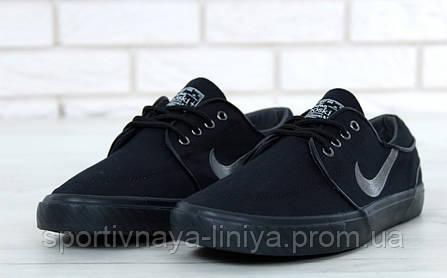Кроссовки мужские черные Nike Sb Zoom Stefan Janoski Black (реплика), фото 2