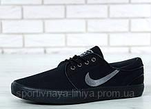 Кроссовки мужские черные Nike Sb Zoom Stefan Janoski Black (реплика), фото 3