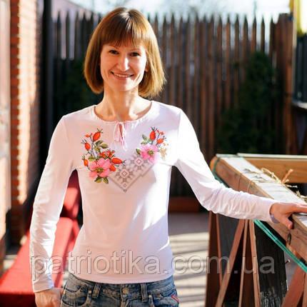 Женская вышиванка с длинным рукавом | Жіноча вишиванка з довгим рукавом, фото 2