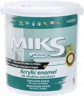 MIKS акриловая эмаль для окон и дверей, белая 2,5 л