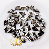 Стразы для дизайна ногтей, цвет Hematite (5,5х8,5мм), 1шт
