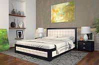 Кровать деревянная с подъемным механизмом Рената М из натурального дерева двуспальная, фото 1