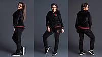 Женский Спортивный костюм Гуччи Gucci ткань плотный бархат до 54 размера, фото 1