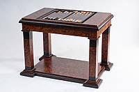 Стол - трансформер нарды и шахматы из ценных пород дерева