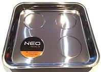 Магнитный поддон для метизов Neo 270 x 290 mm, нержавейка