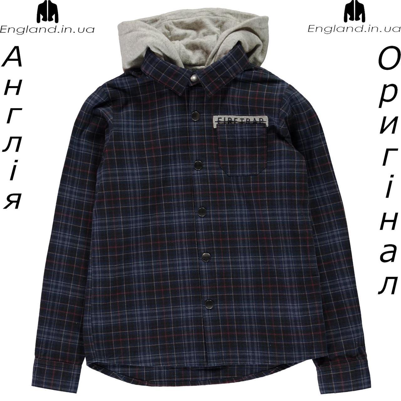 Рубашка Firetrap из Англии для мальчиков 2-14 лет - с капюшоном легкая