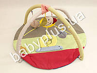 Коврик игровой с дугами и подвесными игрушками Улитка