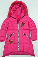 Зимняя куртка-пальто для девочек на меху. Размеры по росту 134 до 164см. (8-16лет) Фирма-Xu Kids Польша.