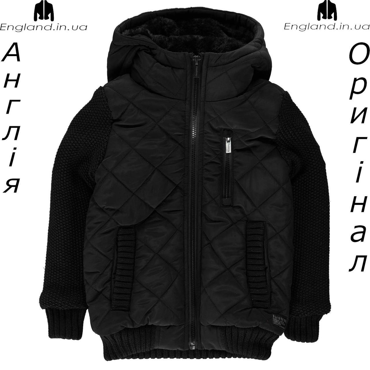 Куртка Firetrap из Англии для мальчиков 2-14 лет - полувязаная осенняя