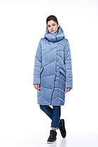Модный зимний пуховик из непромокающей ткани атлас, морозы -30 не страшны 42-54, фото 3
