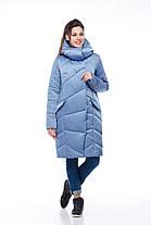 Модный зимний пуховик из непромокающей ткани атлас, морозы -30 не страшны 42-54, фото 2