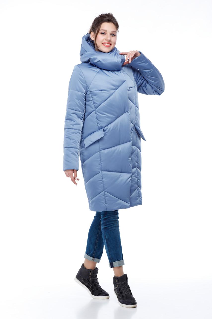 Модный зимний пуховик из непромокающей ткани атлас, морозы -30 не страшны 42-54