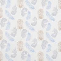 Хлопковая ткань Перышки серо-бежевые