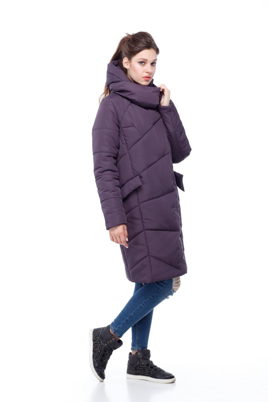 Зимний очень теплый удлиненный женский пуховик 2019 размеры большие 42-54