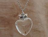 Підвіска на шию Кульбаба серце, фото 2