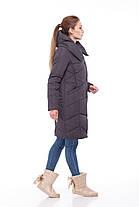 Зимний очень теплый удлиненный женский пуховик 2019 размеры большие 42-54, фото 3