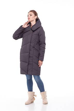 Зимний очень теплый удлиненный женский пуховик 2019 размеры большие 42-54, фото 2