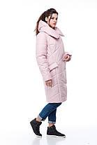 Стильный и модный бочонок-пуховик, для сильных морозов до -30! зимний пуховик 2019 в размерах 42-54, фото 2