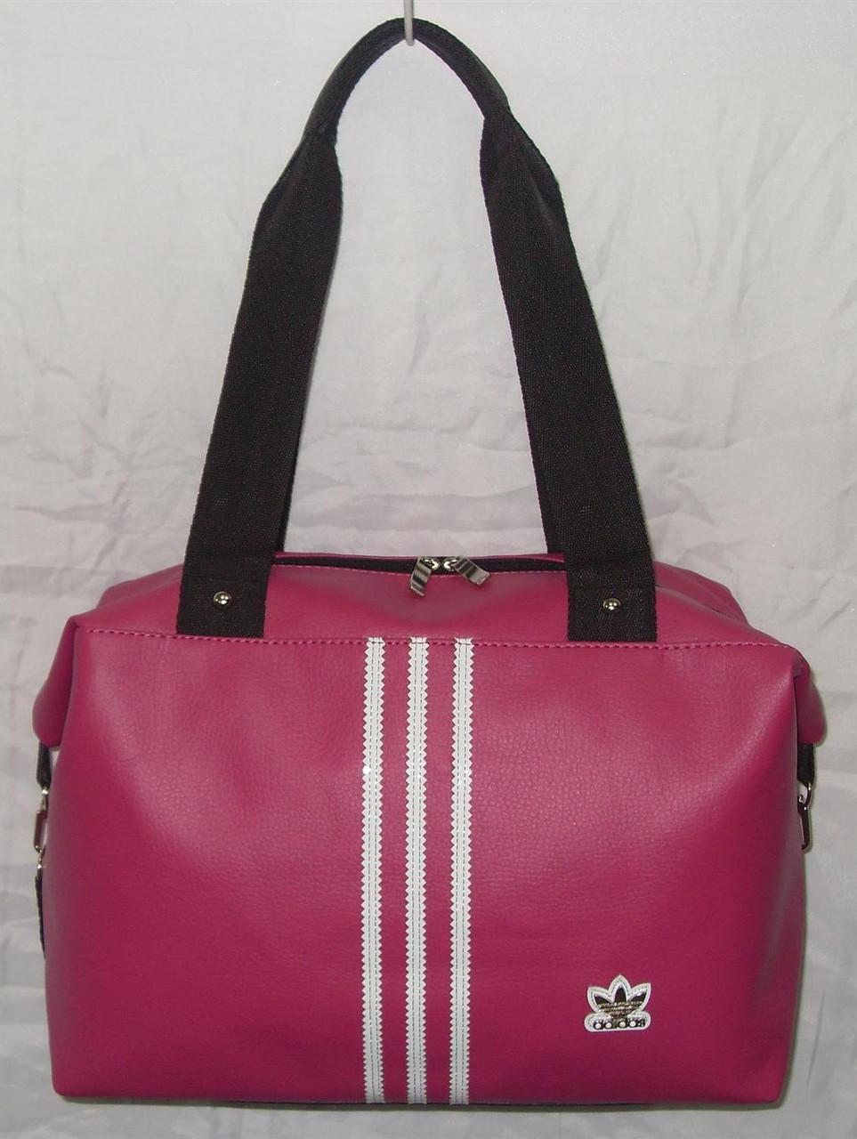 4cebd7c1de23 Cумка женская спортивная Adidas малая розовая эко-кожа копия ...