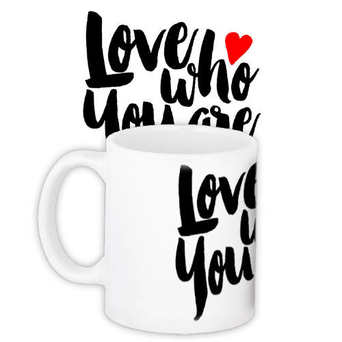 Кружка с принтом Love who you are 330 мл (KR_16J049)