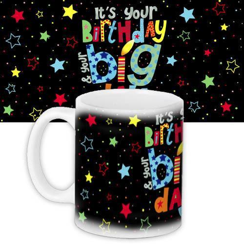 Кружка с принтом Birthday 330 мл (KR_18M007)