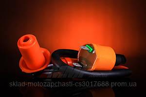 Катушка зажигания YABEN с насвечником и проводом оранжевая ( Racing part )