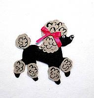 Нашивка на карнавальный костюм собачка Пудель