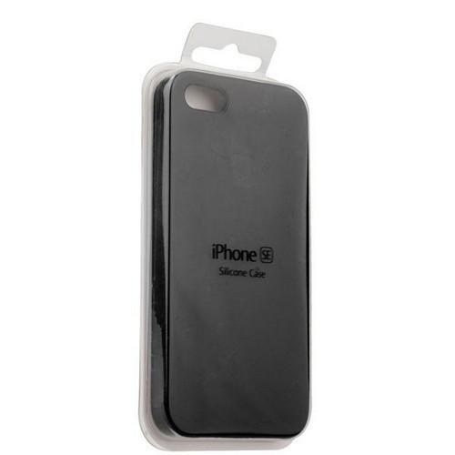 Apple Silicone Case for iPhone 5/5S/SE Black / Черный (силиконовый чехол для айфон)