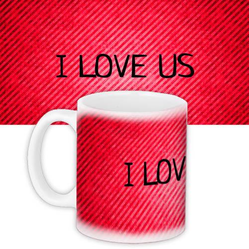 Кружка с принтом I love us 330 мл (KR_15L009)