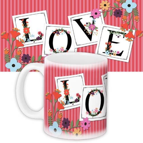 Кружка с принтом Love 330 мл (KR_L032)