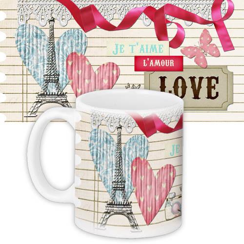 кружка с принтом любовь Je Taime Lamour Love Krl062