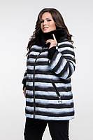 """Куртка женская, демисезонная, зимняя, принт """"шиншила"""", силикон 100 и slimtex 100, рр. 48-68, 2 цвета"""