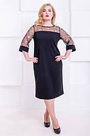 Коктейльное платье платье размер плюс Марсе черный (48-56), фото 1
