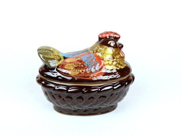 Курица средняя – цветная жаровня из керамики объемом 1,5 л