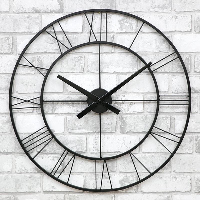 Часы настенные металлические в стиле лофт - Napoli 60