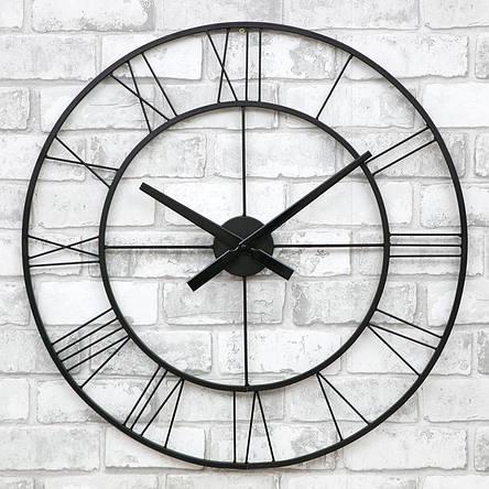 Часы настенные металлические в стиле лофт - Napoli 60, фото 2