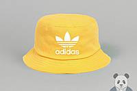 Яркая модная желтая панамка адидас,Adidas