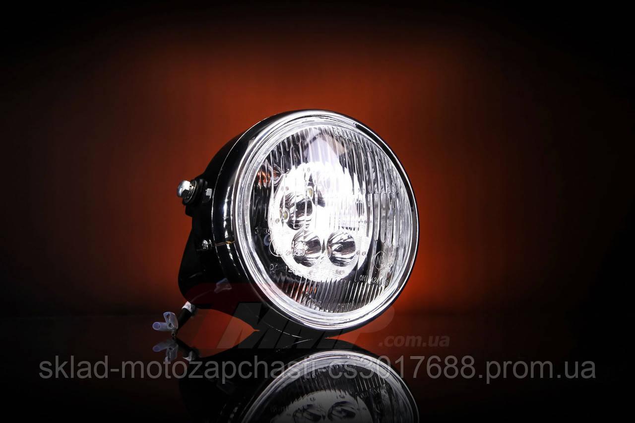 Фара Дельта круглая хром LED-5 ( светодиодная 5 диодов 18W ) 16104667
