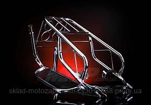 Багажник мопеда Альфа с подножками