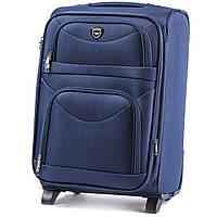 Большой тканевый чемодан Wings 6802 на 2 колесах синий